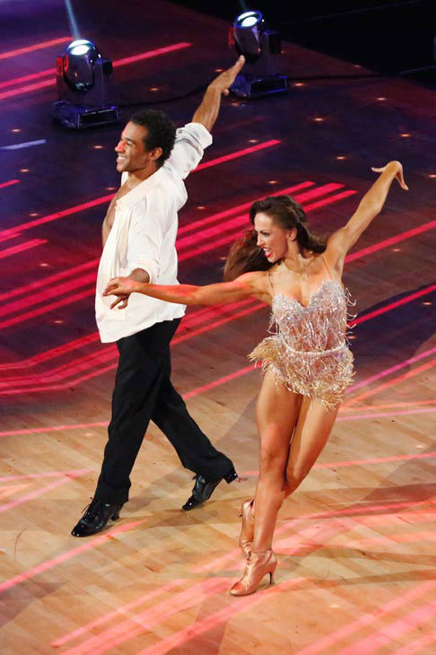 "<div class=""meta ""><span class=""caption-text "">Corbin Bleu and Karina Smirnoff perform their Cha Cha Cha and Foxtrot fusion dance on the season 17 finale of 'Dancing With The Stars' on Nov. 26, 2013. They received 27 out of 30 points from the judges. The two scored a total of 89 out of 95 points for both nights. (ABC Photo/ Kelsey McNeal)</span></div>"