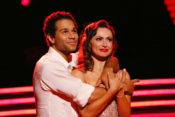 Corbin Bleu and Karina Smirnoff appear in a still from 'Dancing With The Stars' on Nov. 26, 2013.