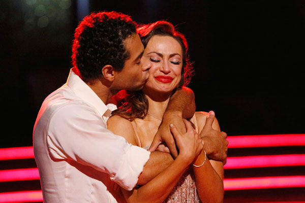 "<div class=""meta image-caption""><div class=""origin-logo origin-image ""><span></span></div><span class=""caption-text"">Corbin Bleu and Karina Smirnoff react to coming in second place on season 17 of 'Dancing With The Stars' on Nov. 26, 2013. The two scored a total of 89 out of 95 points for both nights. (ABC Photo/ Kelsey McNeal)</span></div>"