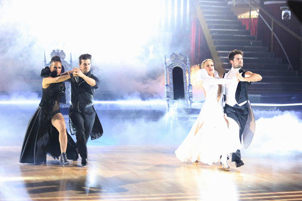 Christina Milian, Mark Ballas, Brant Daugherty and Peta Murgatroyd returned to the ballroom to perform on the season 17 finale of &#39;Dancing With The Stars&#39; on Nov. 26, 2013. <span class=meta>(ABC Photo&#47; Adam Taylor)</span>