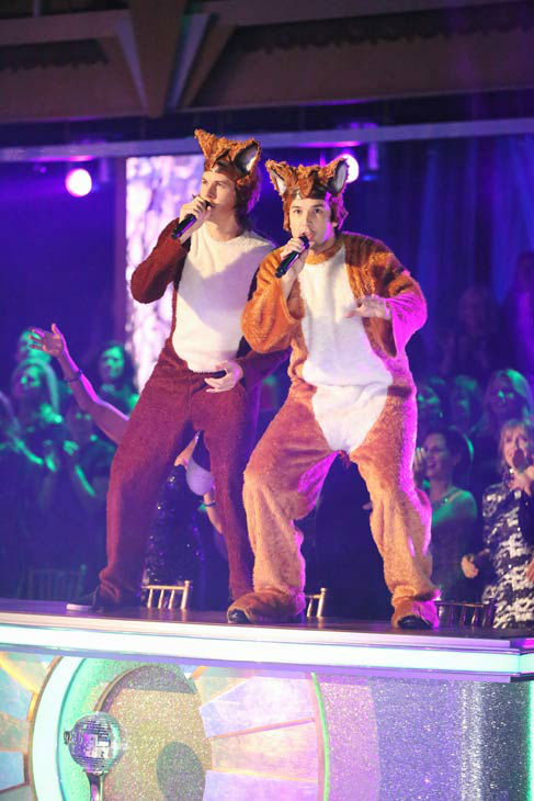 "<div class=""meta ""><span class=""caption-text "">Ylvis performed 'The Fox' on the season 17 finale of 'Dancing With The Stars' on Nov. 26, 2013. (ABC Photo/ Adam Taylor)</span></div>"