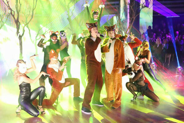 "<div class=""meta image-caption""><div class=""origin-logo origin-image ""><span></span></div><span class=""caption-text"">Ylvis performed 'The Fox' on the season 17 finale of 'Dancing With The Stars' on Nov. 26, 2013. (ABC Photo/ Adam Taylor)</span></div>"