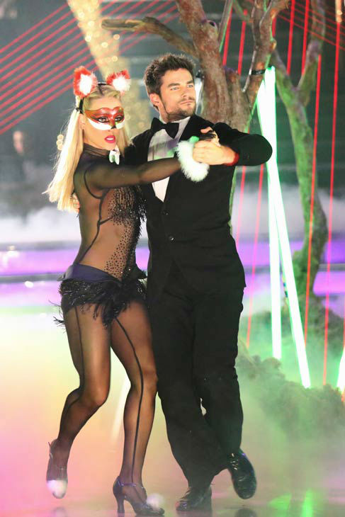 "<div class=""meta ""><span class=""caption-text "">Brant Daugherty dances during Ylvis' performance of 'The Fox' on the season 17 finale of 'Dancing With The Stars' on Nov. 26, 2013. (ABC Photo/ Adam Taylor)</span></div>"