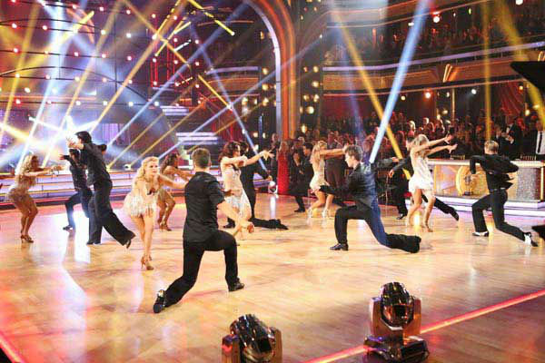 Pro dancers perform on the season 17 finale of 'Dancing With The Stars' on Nov. 26, 2013.