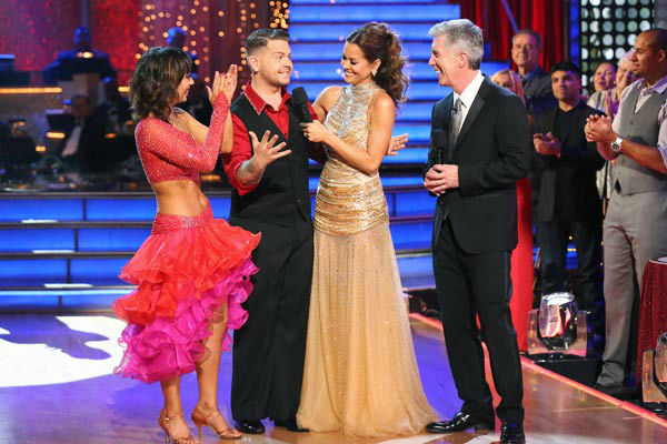 Jack Osbourne and Cheryl Burke appear in a still from 'Dancing With The Stars' on Nov. 26, 2013.