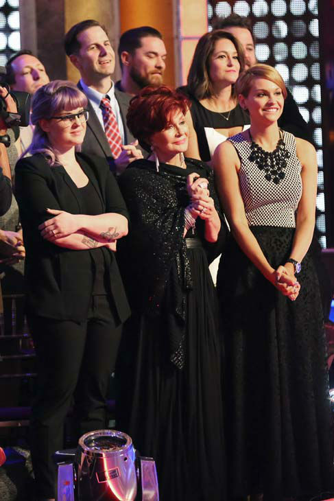 Kelly Osbourne, Sharon Osbourne and Lisa Stelly Osbourne cheer on Jack Osborne on the season 17 finale of &#39;Dancing With The Stars&#39; on Nov. 26, 2013. <span class=meta>(ABC Photo&#47; Adam Taylor)</span>