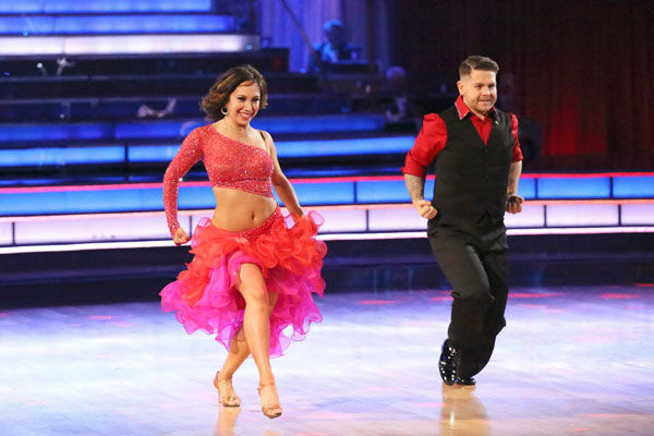 "<div class=""meta image-caption""><div class=""origin-logo origin-image ""><span></span></div><span class=""caption-text"">Jack Osbourne and Cheryl Burke perform their Paso Doble and Salsa fusion dance on the season 17 finale of 'Dancing With The Stars' on Nov. 26, 2013. They received 27 out of 30 points from the judges. The two scored a total of 84 out of 95 points for both nights. (ABC Photo/ Adam Taylor)</span></div>"