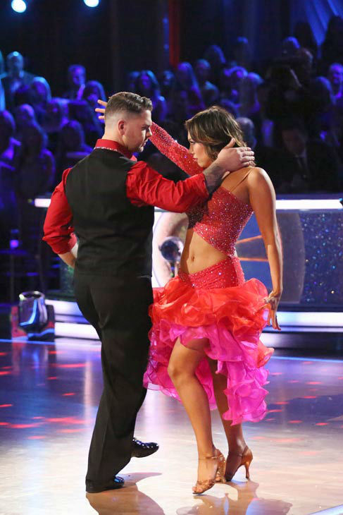 Jack Osbourne and Cheryl Burke perform their Paso Doble and Salsa fusion dance on the season 17 finale of &#39;Dancing With The Stars&#39; on Nov. 26, 2013. They received 27 out of 30 points from the judges. The two scored a total of 84 out of 95 points for both nights. <span class=meta>(ABC Photo&#47; Adam Taylor)</span>