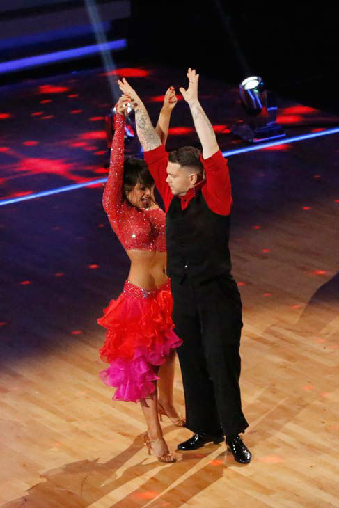 Jack Osbourne and Cheryl Burke perform their Paso Doble and Salsa fusion dance on the season 17 finale of &#39;Dancing With The Stars&#39; on Nov. 26, 2013. They received 27 out of 30 points from the judges. The two scored a total of 84 out of 95 points for both nights. <span class=meta>(ABC Photo&#47; Kelsey McNeal)</span>