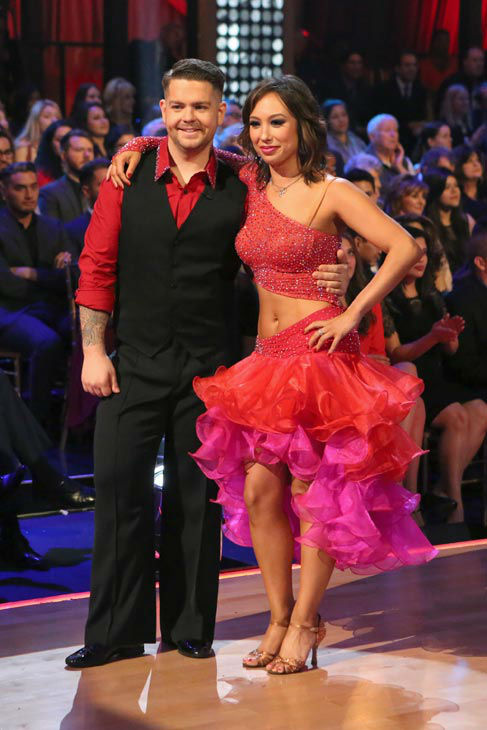"<div class=""meta ""><span class=""caption-text "">Jack Osbourne and Cheryl Burke perform their Paso Doble and Salsa fusion dance on the season 17 finale of 'Dancing With The Stars' on Nov. 26, 2013. They received 27 out of 30 points from the judges. The two scored a total of 84 out of 95 points for both nights. (ABC Photo/ Adam Taylor)</span></div>"
