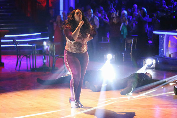 Amber Riley and Derek Hough performed an encore of their Freestyle routine on the season 17 finale of &#39;Dancing With The Stars&#39; on Nov. 26, 2013. <span class=meta>(ABC Photo&#47; Adam Taylor)</span>