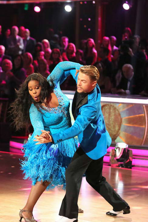 Amber Riley and Derek Hough perform their Samba and Quickstep fusion dance on the season 17 finale of &#39;Dancing With The Stars&#39; on Nov. 26, 2013. They received 30 out of 30 points from the judges. The two scored a total of 94 out of 95 points for both nights. <span class=meta>(ABC Photo&#47; Adam Taylor)</span>