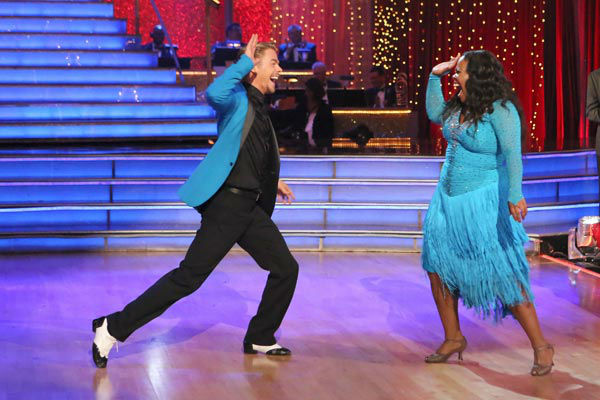 "<div class=""meta ""><span class=""caption-text "">Amber Riley and Derek Hough perform their Samba and Quickstep fusion dance on the season 17 finale of 'Dancing With The Stars' on Nov. 26, 2013. They received 30 out of 30 points from the judges. The two scored a total of 94 out of 95 points for both nights. (ABC Photo/ Adam Taylor)</span></div>"