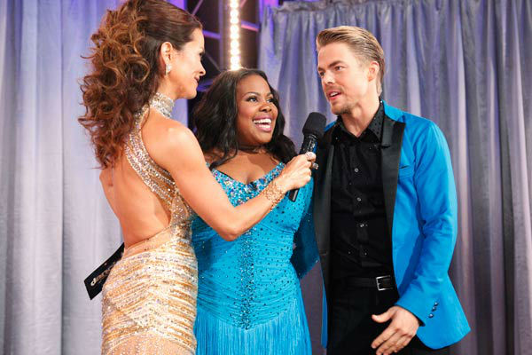 Amber Riley and Derek Hough appear in a still from &#39;Dancing With The Stars&#39; on Nov. 26, 2013. <span class=meta>(ABC Photo&#47; Kelsey McNeal)</span>