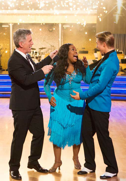 Amber Riley and Derek Hough react winning season 17 of &#39;Dancing With The Stars&#39; on Nov. The two scored a total of 94 out of 95 points for both nights. <span class=meta>(ABC Photo&#47; Adam Taylor)</span>