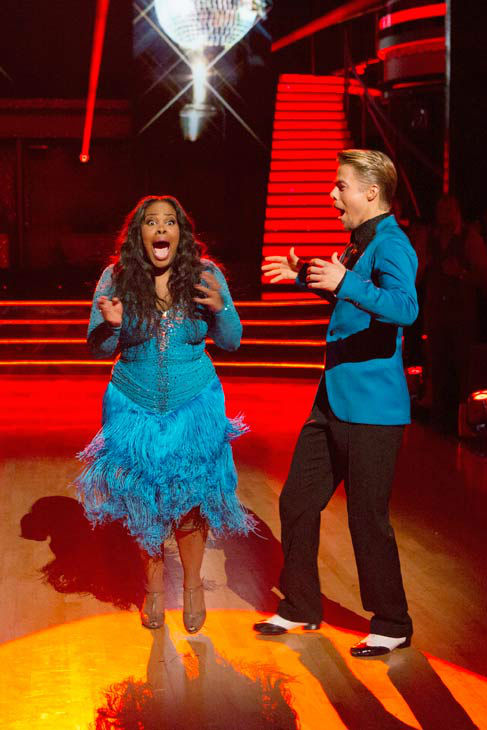 "<div class=""meta image-caption""><div class=""origin-logo origin-image ""><span></span></div><span class=""caption-text"">Amber Riley and Derek Hough react winning season 17 of 'Dancing With The Stars' on Nov. The two scored a total of 94 out of 95 points for both nights. (ABC Photo/ Adam Taylor)</span></div>"
