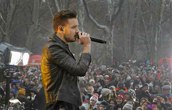 Liam Payne of One Direction performs on 'Good Morning America' in New York City on Nov. 26, 2013.