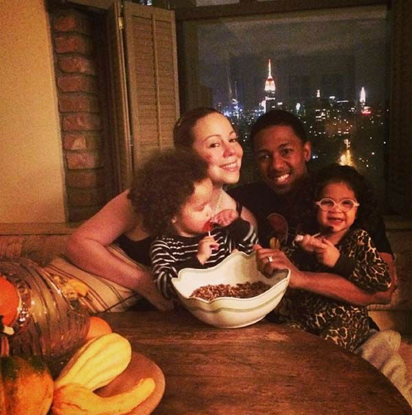 Mariah Carey posted this photo on Instagram on Nov. 28, 2013, with the caption, &#39;Family prepping time! #pecanpie #thanksgiving @nickcannon.&#39; <span class=meta>(instagram.com&#47;p&#47;hP2lUnLeKK)</span>