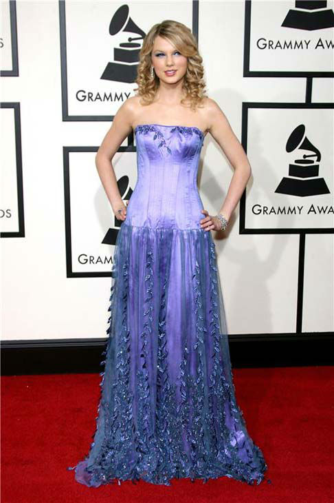 "<div class=""meta ""><span class=""caption-text "">Taylor Swift appears at the 50th annual GRAMMY Awards in Los Angeles, California on Feb. 10, 2008.  (Jen Lowery / startraksphoto.com)</span></div>"