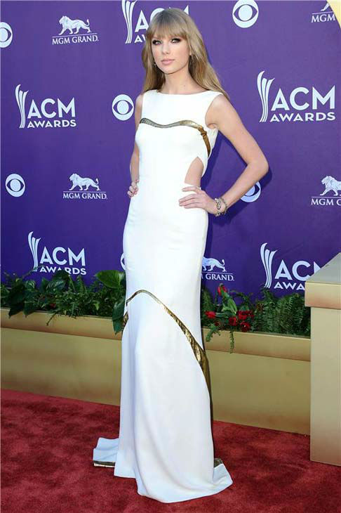"<div class=""meta ""><span class=""caption-text "">Taylor Swift appears at the 47th annual Academy of Country Music Awards in Las Vegas, Nevada on April 1, 2012.  (Kyle Rover / startraksphoto.com)</span></div>"