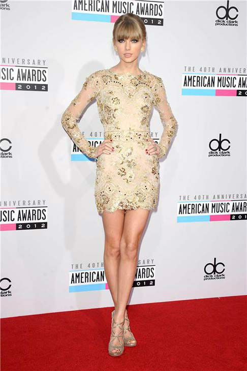 Taylor Swift appears at the 2012 American Music Awards in Los Angeles, California on Nov. 18, 2013.  <span class=meta>(Kyle Rover &#47; startraksphoto.com)</span>