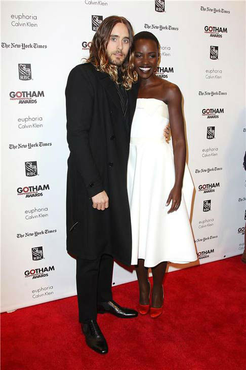 Jared Leto and Lupita Nyong&#39;o appear at the IFP Gotham Independent Film Awards in New York City on Dec. 2, 2013. <span class=meta>(Kristina Bumphrey&#47;Startraksphoto.com)</span>