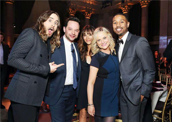 Jared Leto, Nick Kroll, Rashida Jones, Amy Poehler, Michael B. Jordan appear at the IFP Gotham Independent Film Awards in New York City on Dec. 2, 201