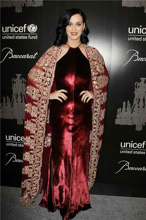 Katy Perry appears at the Ninth Annual UNICEF Snowflake Ball in New York City on Dec. 3, 2013.
