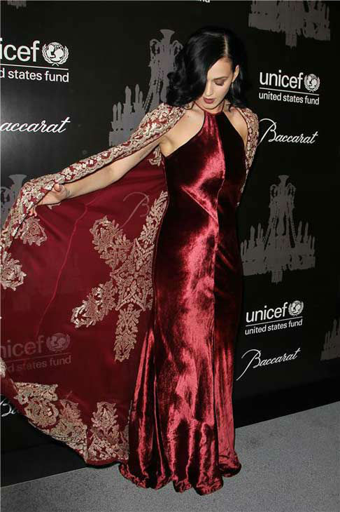 Katy Perry appears at the Ninth Annual UNICEF Snowflake Ball in New York City on Dec. 3, 2013. <span class=meta>(Amanda Schwab&#47;Startraksphoto.com)</span>