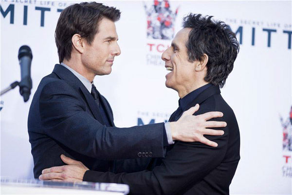 Tom Cruise and Ben Stiller appear at Stiller&#39;s hand and footprint ceremony at the TCL Chinese Theatre in Los Angeles on Dec. 3, 2013. <span class=meta>(Lionel Hahn&#47;Abacausa&#47;startraksphoto.com)</span>