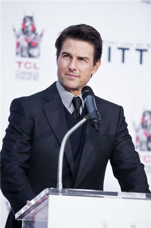Tom Cruise appears at Ben Stiller&#39;s hand and footprint ceremony at the TCL Chinese Theatre in Los Angeles on Dec. 3, 2013. <span class=meta>(Lionel Hahn&#47;Abacausa&#47;startraksphoto.com)</span>