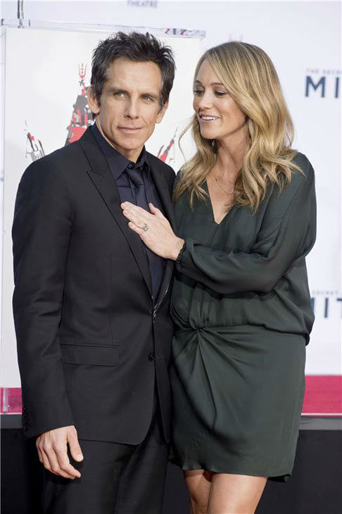 Ben Stiller and wife Christine Taylor appear at Stiller&#39;s hand and footprint ceremony at the TCL Chinese Theatre in Los Angeles on Dec. 3, 2013. <span class=meta>(Lionel Hahn&#47;Abacausa&#47;startraksphoto.com)</span>