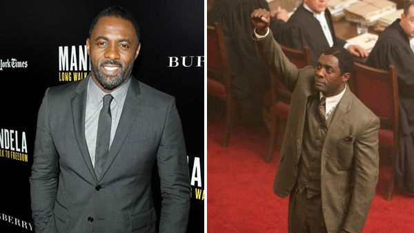 Idris Elba appears at A Special Screening of 'Mandela: Long Walk To Freedom' on Nov. 25, 2013. / Elba appears as Mandela in a scene from the 2013 film 'Mandela: Long Walk To Freedom.'