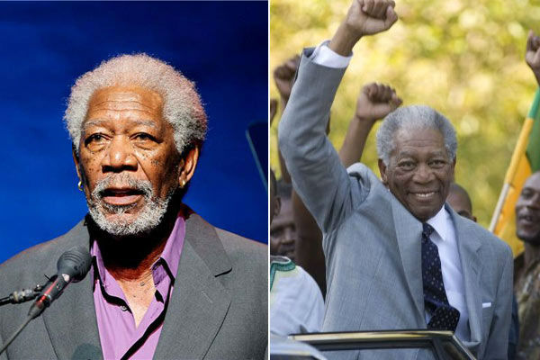 "<div class=""meta image-caption""><div class=""origin-logo origin-image ""><span></span></div><span class=""caption-text"">Morgan Freeman, who portrayed Nelson Mandela in the 2009 film 'Invictus,' said in a statement about Nelson Mandela after hearing about his death on Dec. 5, 2013, 'Today the world lost one of the true giants of the past century.  Nelson Mandela was a man of incomparable honor, unconquerable strength, and unyielding resolve --- a saint to many, a hero to all who treasure liberty, freedom and the dignity of humankind.  As we remember his triumphs, let us, in his memory, not just reflect on how far we've come, but on how far we have to go. Madiba may no longer be with us, but his journey continues on with me and with all of us.'  (Pictured: Morgan Freeman appears at Jazz Foundation Of America Presents 'A Great Night In Harlem' in New York City on May 17, 2013. / Freeman appears as Mandela in a scene from the 2009 movie 'Invictus.') (Marion Curtis/Startraksphoto.com / Warner Bros. Pictures)</span></div>"