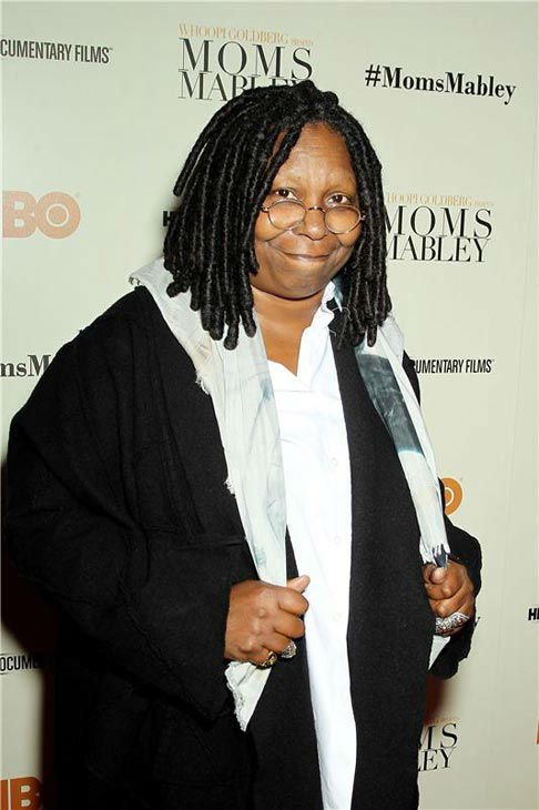 Whoopi Goldberg wrote this on her Twitter page about Nelson Mandela after hearing about his death on Dec. 5, 2013, &#39;I want 2give the world a hug I was told Mandeba just passed. Nelson Mandela R.I.P. Time for a well earned sleep.Condolences to his family.&#39;  &#40;Pictured: Whoopi Goldberg appears at the New York Screening of &#39;Moms Mabley&#39; at The Apollo Theater in New York City on Nov. 7, 2013.&#41; <span class=meta>(Marion Curtis&#47;Startraksphoto.com)</span>