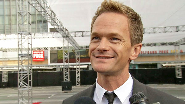 Neil Patrick Harris talks to OTRC.com after helping to roll out the 2013 Emmy Awards red carpet  near L.A. Live's Nokia Theatre on Sept. 18, 2013.