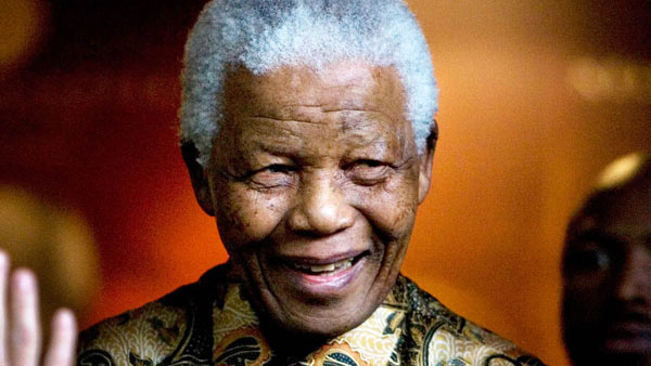Nelson Mandela, the former South African President and anti-apartheid icon, died at the age of 95 on Dec. 5, 2013. See what celebrities said about Mandela. <span class=meta>(AP &#47; Peter Dejong, file)</span>