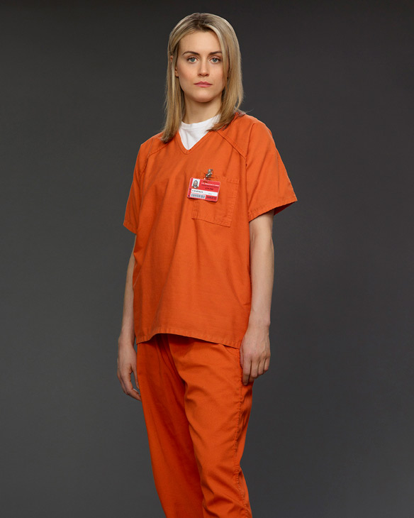 Taylor Schilling was nominated for a 2014 Golden Globe Awards for Best Performance by an Actress in a Television series for her role as prisoner Piper Chapman on the Netflix series &#39;Orange Is the New Black.&#39;  She said in response, &#39;I am so incredibly thrilled to be representing this extraordinary group of actors and so proud to be a part of [series creator] Jenji Kohan&#39;s brilliant vision.  This is surreal.&#39;  This marks Schilling&#39;s first Golden Globe nomination. She is also known appeared in movies such as &#39;The Lucky One&#39; and &#39;Argo.&#39;   &#40;Pictured: Taylor Schilling appears in a promotional photo for the Netflix series &#39;Orange Is the New Black&#39; in 2013.&#41; <span class=meta>(Jill Greenberg for Netflix)</span>