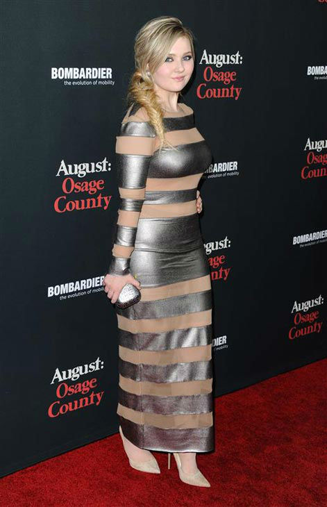 "<div class=""meta ""><span class=""caption-text "">Abigail Breslin appears at the 'August: Osage County' Los Angeles premiere on Dec. 16, 2013. (Sara De Boer/startraksphoto.com)</span></div>"