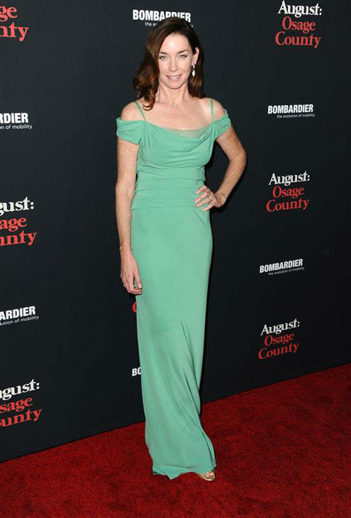 "<div class=""meta ""><span class=""caption-text "">Julianne Nicholson appears at the 'August: Osage County' Los Angeles premiere on Dec. 16, 2013. (Sara De Boer/startraksphoto.com)</span></div>"
