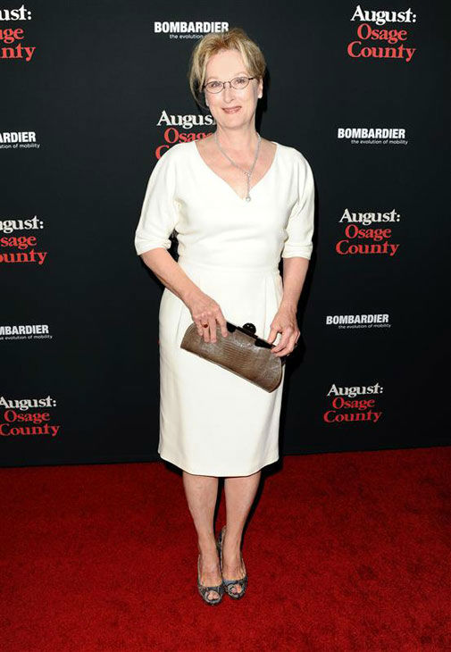 Meryl Streep appears at the 'August: Osage County' Los Angeles premiere on Dec. 16, 2013.