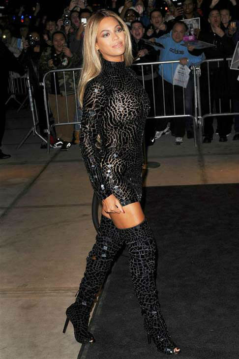 Beyonce appears at the screening of her new self-titled visual album in New York City on Dec. 21, 2013. <span class=meta>(Humberto Carreno &#47; startraksphoto.com)</span>