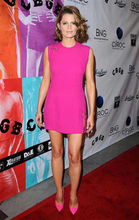 "<div class=""meta image-caption""><div class=""origin-logo origin-image ""><span></span></div><span class=""caption-text"">Stana Katic (ABC's 'Castle') appears at the Los Angeles screening of 'CBGB' on Oct. 1, 2013.  (Sara De Boer / startraksphoto.com)</span></div>"