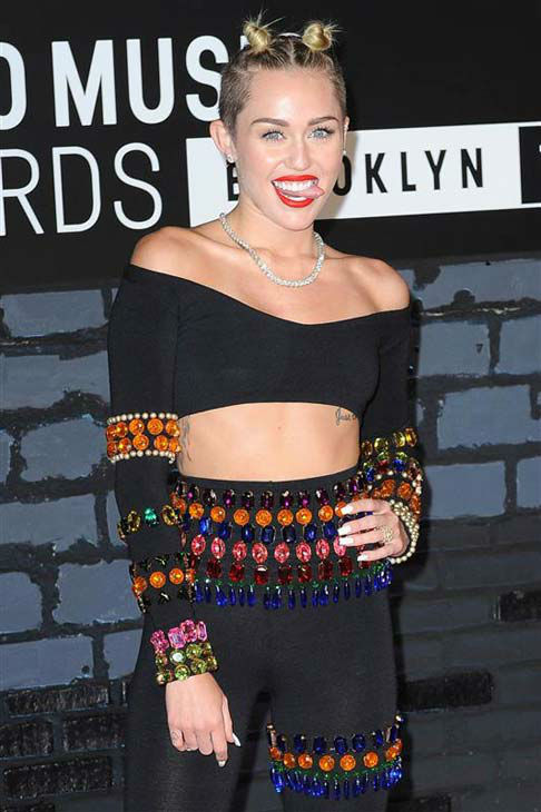 The time Miley Cyrus stuck her tongue out on the red carpet at the 2013 MTV Video Music Awards in Brooklyn, New York on Aug. 25, 2013.  <span class=meta>(Humberto Carreno &#47; startraksphoto.com)</span>