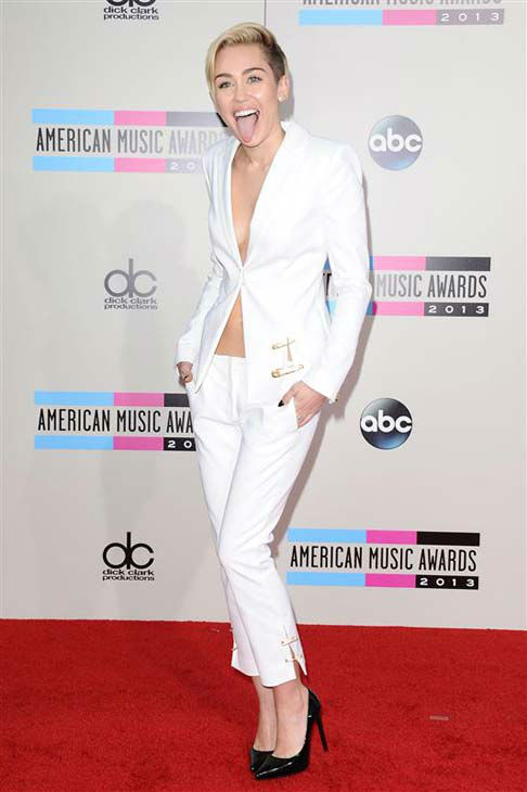 The time Miley Cyrus stuck her tongue out at the 2013 American Music Awards in Los Angeles, California on Nov. 24, 2013.  <span class=meta>(Kyle Rover &#47; startraksphoto.com)</span>