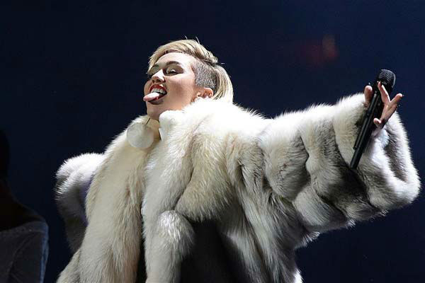 The time Miley Cyrus stuck her tongue out while performing at Hot 99.5&#39;s Jingle Ball in Los Angeles, California on Dec. 16, 2013.  <span class=meta>(Olivier Douliery &#47; startraksphoto.com)</span>