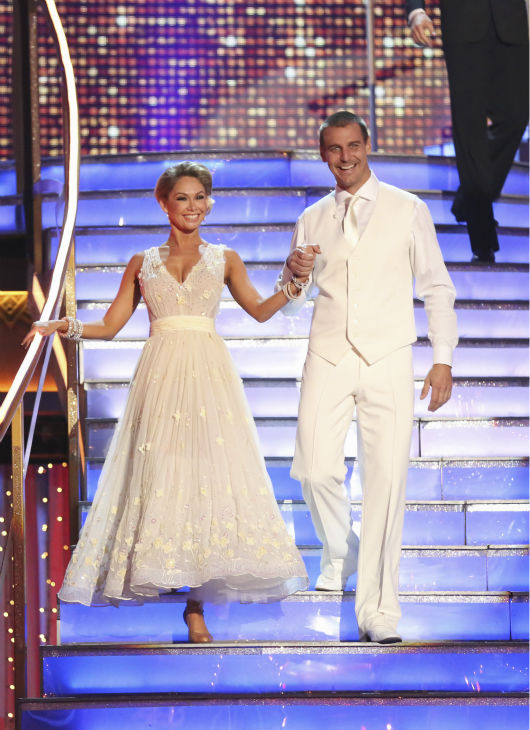 Boxer Ingo Rademacher and partner Kym Johnson prepare to dance on week 4 of season 16 of 'Dancing With The Stars,' which aired on April 8, 2013.