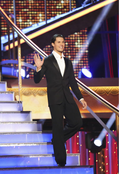 "<div class=""meta image-caption""><div class=""origin-logo origin-image ""><span></span></div><span class=""caption-text"">Gleb Savchenko arrives without partner and celebrity contestant Lisa Vanderpump on week 4 of season 16 of 'Dancing With The Stars,' which aired on April 8, 2013. The 'Real Housewives of Beverly Hills' star had fainted during a recent rehearsal but later appeared on the show and danced with Savchanko. They received 18 out of 30 points from the judges for their Cha Cha Cha.  (ABC Photo / Adam Taylor)</span></div>"