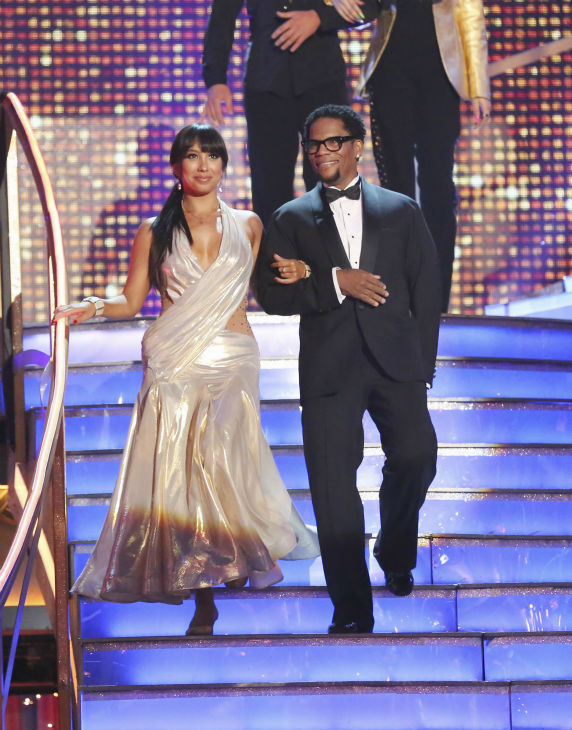 D.L. Hughley and partner Cheryl Burke prepare to dance on week 4 of season 16 of 'Dancing With The Stars,' which aired on April 8, 2013.