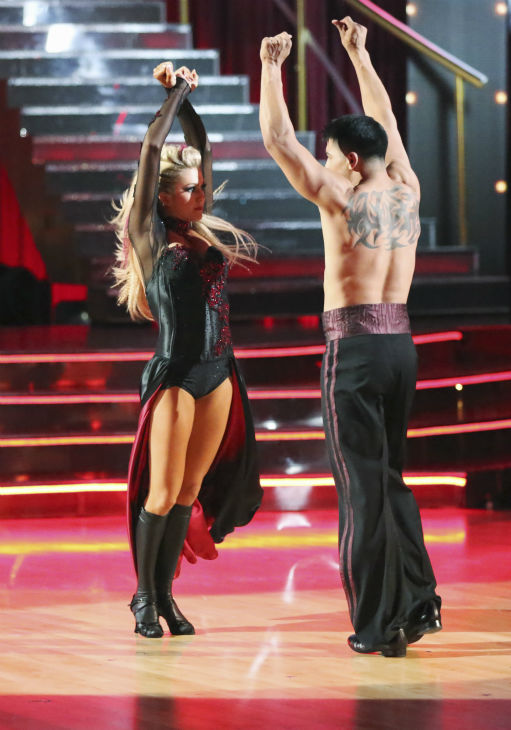 Boxer Victor Ortiz and his partner Lindsay Arnold received 18 out of 30 points from the judges for their Paso Doble during week 4 of season 16 of &#39;Dancing With The Stars,&#39; which aired on April 8, 2013. <span class=meta>(ABC Photo &#47; Adam Taylor)</span>